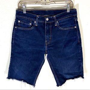 Levi's 511 Dark Wash Cut Off Denim Jean Shorts